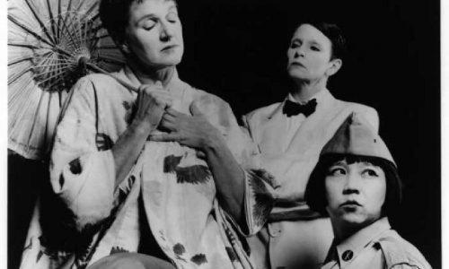 "Split Britches, SALAD OF THE BAD CAFÉ, ""Girl Play: 1st Hong Kong International Women's Theatre Festival,"" Hong Kong Arts Centre, 2001, curated by Yau Ching and Ribble Chung"