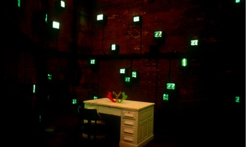 "TREASURE HUNT, Interactive Media Exhibition, ""Art in the Anchorage"", New York Brooklyn Bridge, curated by Creative Time, 1996"